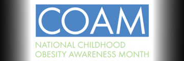 Childhood obesity awareness month logo