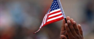 American Flag hands
