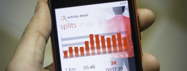 Running app on a smartphone